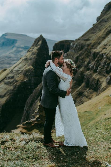 This Couple Got Cozy on a Cliff for Their Isle of Skye