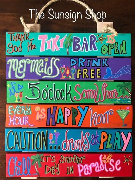 Thank God The Tiki Bar is Open / Bar Sign / Drinking Sign