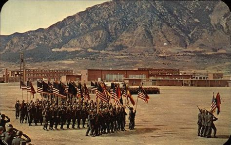 Massed colors of the 5th Infantry Division Fort Carson, CO