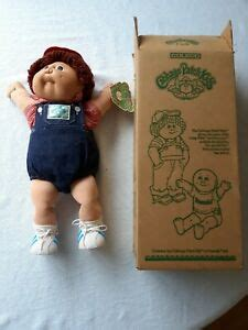 Cabbage patch kids doll boy red fuzzy hair brown eyes 1985