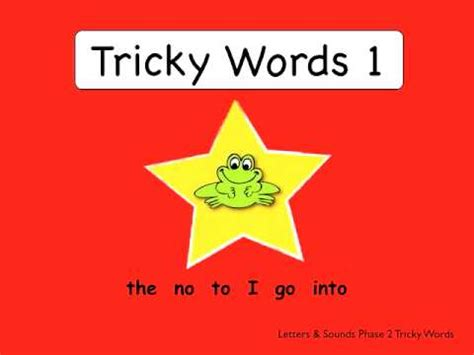 Tricky Words 1 - from Smart Frog - YouTube