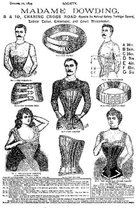 """""""The Posture Theory"""" Many men wore corsets too, in the"""