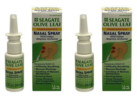 Seagate Products Homeopathic Olive Leaf Nasal Spray (pack